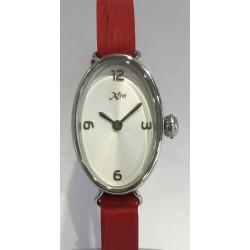 Bracelet lanière cuir rouge