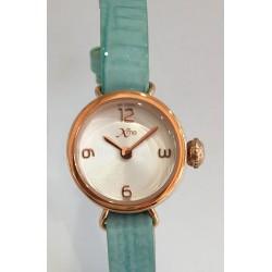 Bracelet lanière cuir turquoise