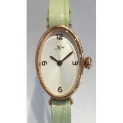 Bracelet lanière cuir vert pastel