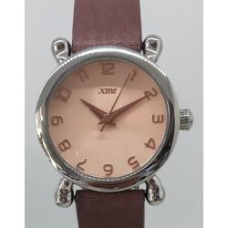 Bracelet cuir vachette rose