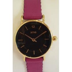 Montre bracelet feston violet