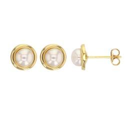 Boucle d'oreille avec perles de culture