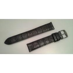 Bracelet Veau façon alligator gris