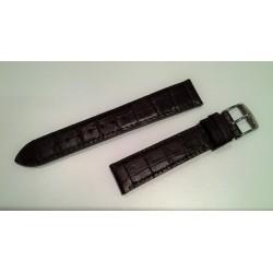 Bracelet Veau façon alligator marron