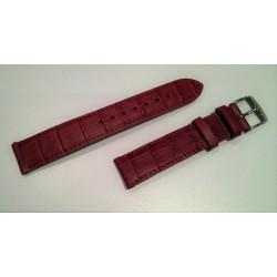 Bracelet Veau façon alligator rouge