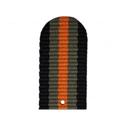 Bracelet Nato Noir Gris Orange