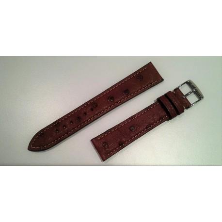 Bracelet Autruche Acajou