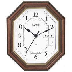 Pendule murale Bayard octogonale